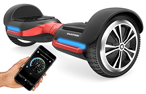 Swagtron T580 App-Enabled Bluetooth Hoverboard w/Speaker Smart Self-Balancing Wheel