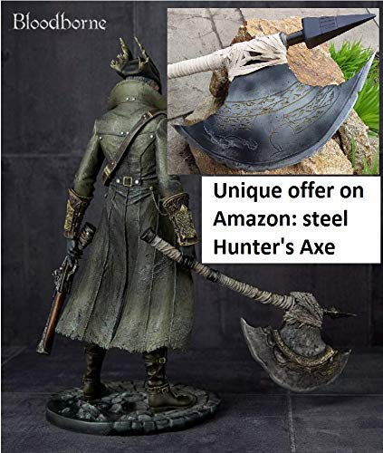 God of War Kratos Bloodborne cosplay props cosplay armor costume weapon replica cosplay The Hunters Axe Bloodborne cosplay prop