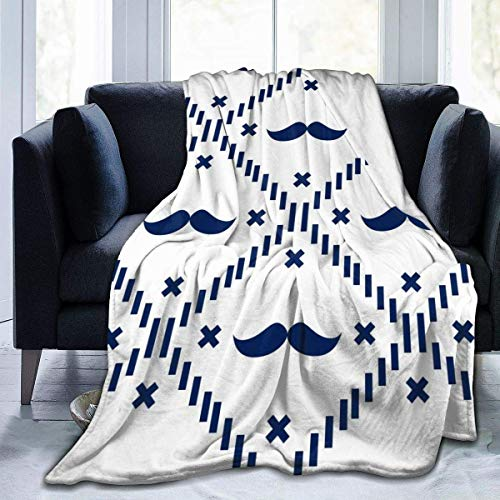 huatongxin American Hipster Mustache Manta de Microfibra Super Soft Hypoallergenic Plush Bed Couch Living Room Bedroom Gifts