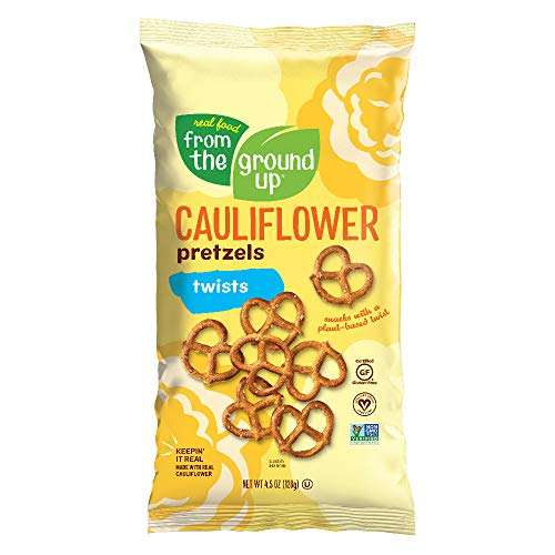 Real Food From The Ground Up Vegan Pretzels, Gluten Free, Non-GMO, 6 Pack (Cauliflower, Twists)
