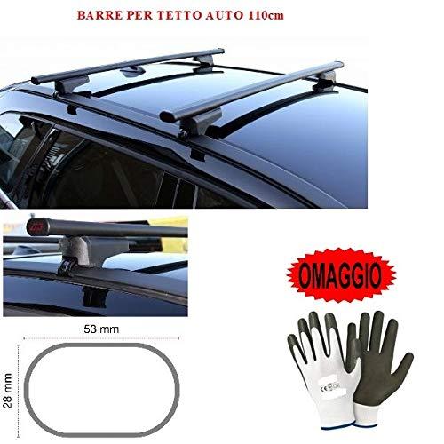 Compatible con Citröen C4 Cactus 5p 2019 Bares RACKF DE Techo para Coche Barra DE 110CM para Coche con Barrera Alta Y Baja ADJUNTA Completamente AL Rack DE Techo Rack DE Acero Negro
