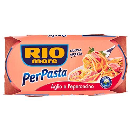 Rio Mare - PerPasta Condimento Pronto con Tonno, Aglio e Peperoncino, 2 Lattine da 160 g