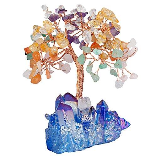 Mookaitedecor - Árbol de la vida con piedra de cristal cura