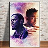 KWzEQ Rapero Hip Hop Pop Music Star Print Art Lienzo Pintura al óleo Imagen de la Pared Decoración para el hogar60X80cmPintura sin Marco