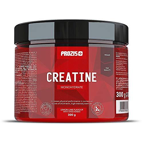 Prozis Creatina monohidrato Estimular la Fuerza, el Crecimiento y el Desarrollo Muscular, Lemon-Lime - 300 g