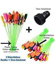 Water Balloons all Water Balloons Self Tie 7 Different Colors With 111 Water Balloons that Tie Themselves in Each Bunch Fill in 60 Seconds Perfect Water Balloons Bombs and Water Balloon Launcher