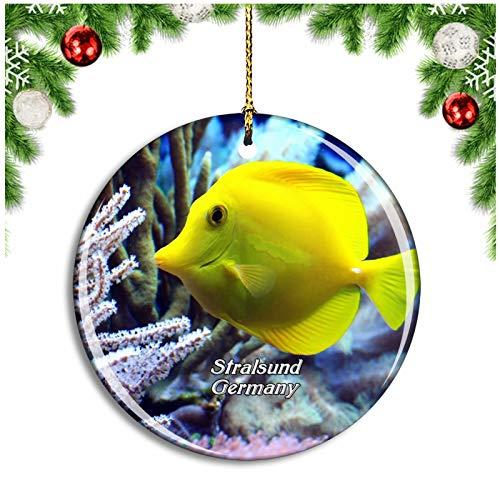 Weekino Stralsund Aquarium Deutschland Christbaumkugel Hängender Weihnachtsbaum Anhänger Dekor Travel Souvenir Collection Porzellan 2,85 Zoll
