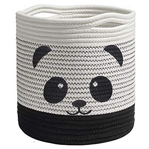 Panda Baumwolle Seil Korb Baby Aufbewahrungskörbe, Wäschekorb Faltbare Kinder Aufbewahrungsbox für Spielzeug...