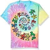 Liquid Blue boys Grateful Dead Spiral Dancing Bears Short Sleeve T-shirt T Shirt, Tie-dye, Small US