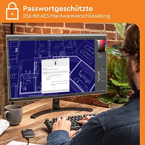 WD My Passport SSD 2 TB externe SSD (externe Festplatte mit SSD Technologie, NVMe-Technologie, USB-C und USB 3.2 Gen-2 kompatibel, Lesen 1050 MB/s, Schreiben 1000 MB/s) dunkelgrau - 6