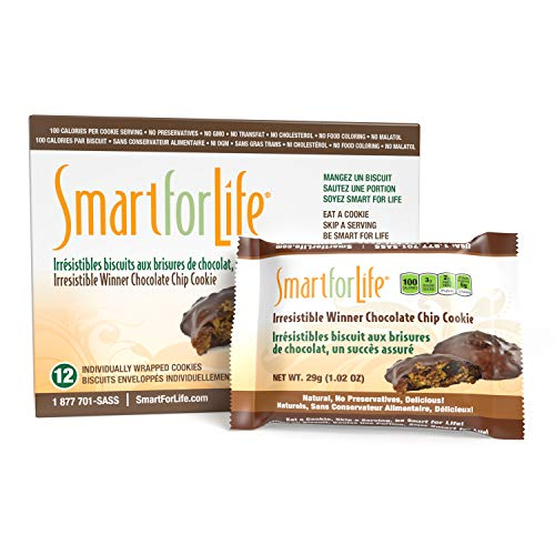 Smart for Life Chocolate Protein Cookies - Irresistible Winner High Protein Cookie Diet - 12 Count - Meal Replacement - On-the-Go Snack - Low Calorie Super High Fiber Cookies - Protein Snack