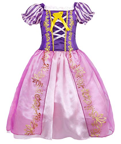 HenzWorld Little Girls Dresses Outfits Costume Princess Birthday Party Role Pretend Cosplay Dress Up...