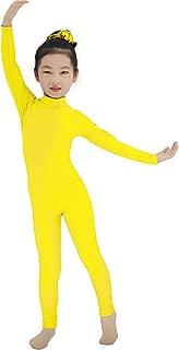 yellow turtleneck leotard