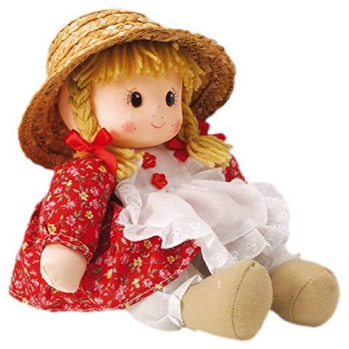 Musicbox World 20243 Petite Fille en Robe Rouge avec des Taches de rousseur Jouant Memory