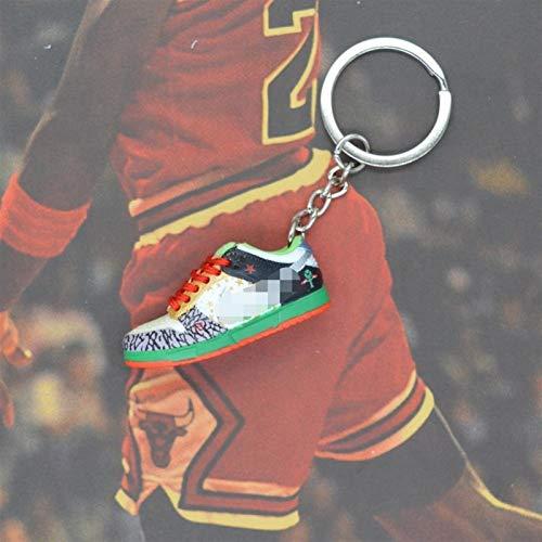 Xssbhsm Llavero Zapatos de la Zapatilla de Deporte 3D Llaveros con Anillo de Metal y la Caja (Color : #19)
