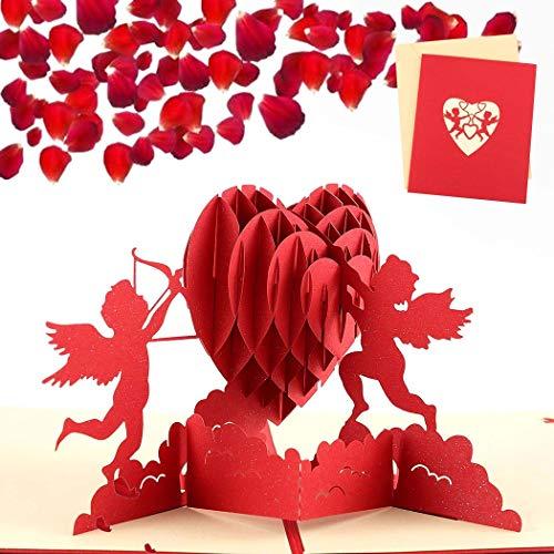 Sethexy 3D día de San Valentín Invitación de boda Tarjetas de felicitación Romántico Tarjeta de compromiso Surgir Aniversario Regalo de cumpleaños para Novia Novio Esposa Esposo Amigos Familia
