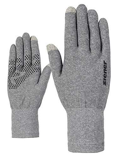 Ziener Erwachsene IBICO Touch Glove Handschuhe, grey melange, XS