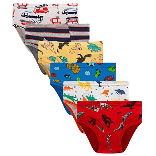 Boboking Little Boys Briefs Dinosaur Truck Toddler Kids Underwear 2T Mixed Color