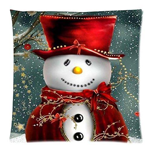Kissenbezug 45 x 45 cm Frohe Weihnachten Kissenbezüge Baumwolle Leinen Sofa Bett Auto Home Decor Festival Kissenhülle LuckyGirls (A)