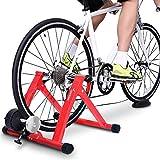 Sportneer Acero Rueda De Bicicleta Ejercicio Entrenamiento con Bicicleta Soporte magnético con reducción de Ruido, Rojo