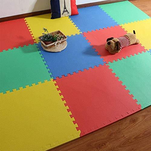 DHFDHD Alfombra puzle Eva piso de enclavamiento colchonetas de espuma Puzzle estera de arrastre de madera de bloqueo de suelo Azulejos impermeable manta de bebé estera de arrastre for los niños Sala d