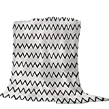 Mantas para Patrón de Personalidad en Blanco y Negro Mantas para Sofá Tacto Suave y cálido, Alivio del estrés, Que Tiene una flexibilidad Extremadamente Alta. 150 * 200cm