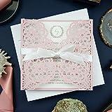 50 INVITATIONS DIY - Invitations élégantes de mariage de Rose avec des enveloppes...