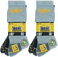Caterpillar Real Work Socks 6 paar herensokken voor veiligheidsschoenen voor heren Versterkt op hiel en teen met...