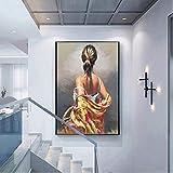 JHGJHK Regalo de la decoración del Cartel de la Pintura al óleo Humana del Arte de la Pared en la Pared de la Sala de Estar