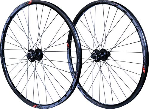 Velox Unisex's Mach1 Traxx Bolt-Thru Disc Mountain Bike Wheelset, Black, 27.5'