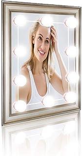 Luces de Espejo de Vanidad, Kit de Lámpara LED, Bombillas LED de Luz de Espejo, Kit de Bombillas LED para Faros de Lentes, Tocador Espejo Baño Regalo para Fiesta Cumpleaños (02)