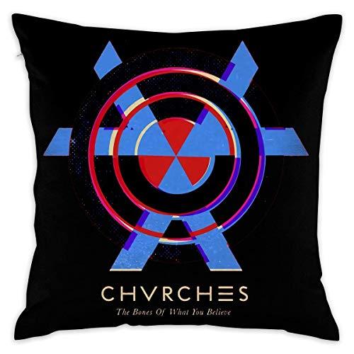 Chvrches The Bones of What You Believe Decorative Lumbar Pillow Covers Case Pillowcases Kissenbezüge (55cmx55cm)