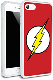 The Flash Lightning Bolt Logo Protective Slim Fit Hybrid Rubber Bumper Case for Apple iPhone 7