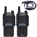 BaoFeng UV-9R Dustproof Waterproof IP67 Transceiver Walkie Talkie Two Way Radio with Programming Cable, 2 Pack