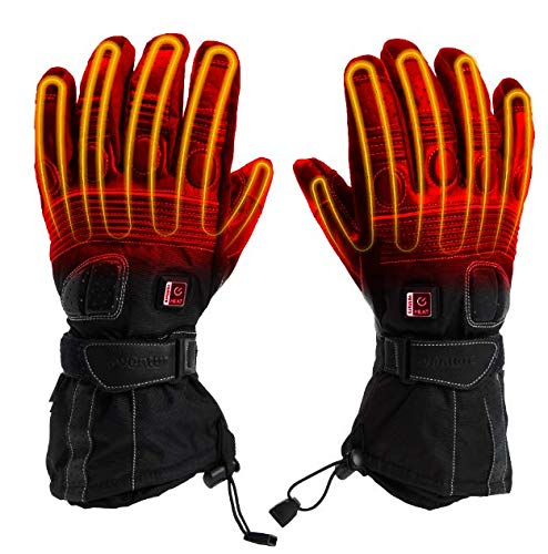 Venture Heat 12V Motorcycle Heated Gloves, Built In Controller - 7 Watt, Hand Warming Riding Gear, Touring MC225 (XL)