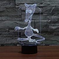 マウス3DライトカラフルタッチビジュアルライトVeilleuseEnfant GifeLedナイトライトLuminariaDe Mesa3Dテーブルランプ
