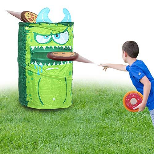 KreativeKraft Juego Lanzamiento del Monstruo Verde! | Juguete Jardin Niños para Fiestas...