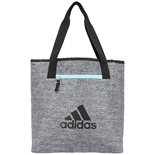 adidas Women's Studio II Tote Bag, Onix Jersey/Black/Energy Aqua, One Size