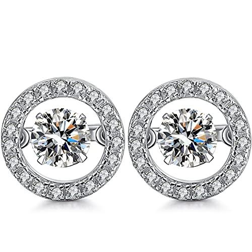 Pendientes Mujer plata Pendientes de diamantes mujer Aretes de oro blanco mujer Pendient mujer de oro blanco Pendientes de plata de ley mujer Pendientes con diamantes Pendient de oro blanco mujer