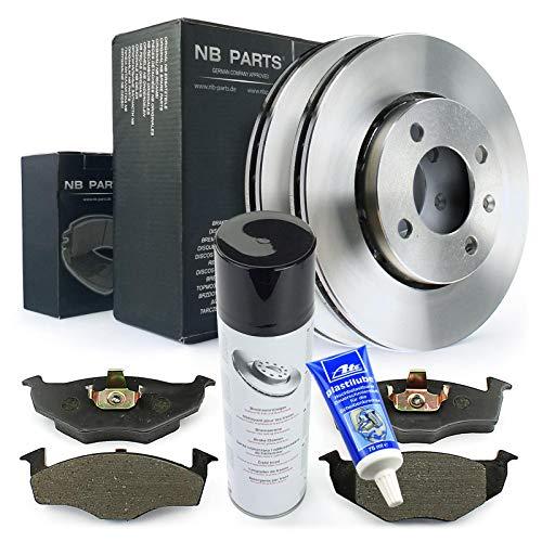 Bremsen/Bremsscheiben + Bremsbeläge + Bremsenreiniger + Plastilube vorne NB PARTS GERMANY 10046370