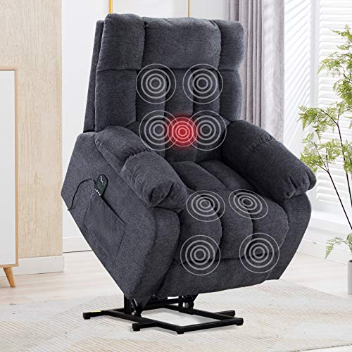 CANMOV Power Lift Recliner Chair with Heat & Massage for Elderly, Heavy...