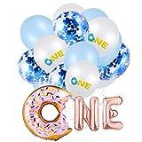 Lusee Globos de 1er cumpleaños, Decoración de globos, Globos de bautismo de bebé para decoración de ...
