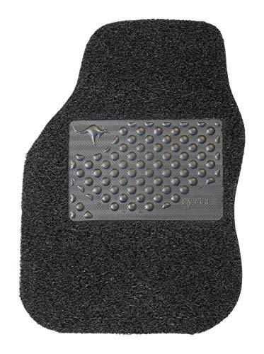 Gomet Tapis Universels pour Voitures, Haute Performance, filaments ondulés avec Un Tissage sophistiqué en PVC, Facile à Nettoyer, antidérapant Gecko Grip. (Noir, 1 Piece côté conducteur, 8 mm)