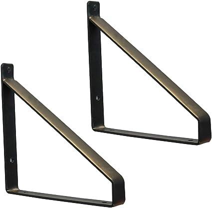 YFSS Soporte para Estanterías, Soportes de Hierro para Retro,Escuadras De Metal Soporte Triangular,2 Piezas(Incluye Tornillos De Montaje)