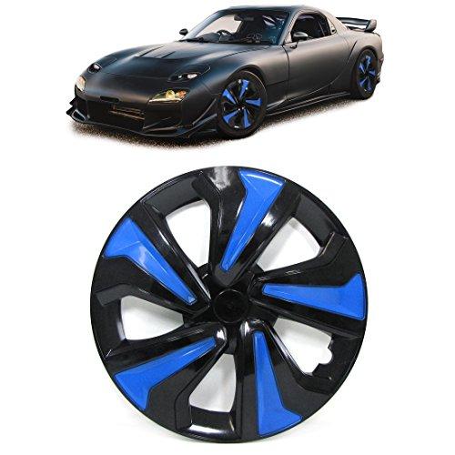 Carparts-Online 30297 Radkappen Blenden für Stahlfelgen Set 14 Zoll Tenzo-R VIII schwarz blau