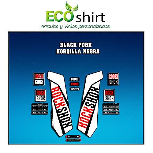 Ecoshirt 0W-T3JI-67KU Adesivi Stickers Forcella Rock Shox Pike 2016 Am108 Fork Aufkleber Decals Autocollants Adesivi Forcella Gabel, Bianco
