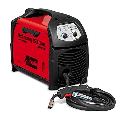 Telwin Technomig 150 Dual Synergic - 150 technomig sinergico doppio - attrezzature saldatura a filo (1.2 w, 230 v), rosso e nero