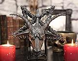 Ebros Sabbatic Goat of Mendes Samael Lilith Baphomet Head On Inverted Pentagram Star Hanging Wall Decor Plaque 10.5' Wide Satanic Devil Worship Lucifer Symbol Altar Accent