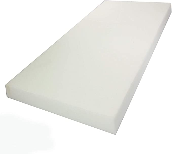 Conventional Polyurethane Foam Pad Made in the USA 33LB Upholstery Foam 6 Inch Thick Sheet 38in x 78in