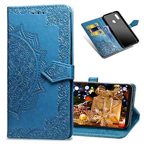 MRSTER Funda Compatible con Xiaomi Mi A2 Lite, PU Cuero Flip Folio Carcasa, Cierre Magnético, Función de Soporte, Billetera PU Cuero Funda para Xiaomi Mi A2 Lite. SD Mandala Blue